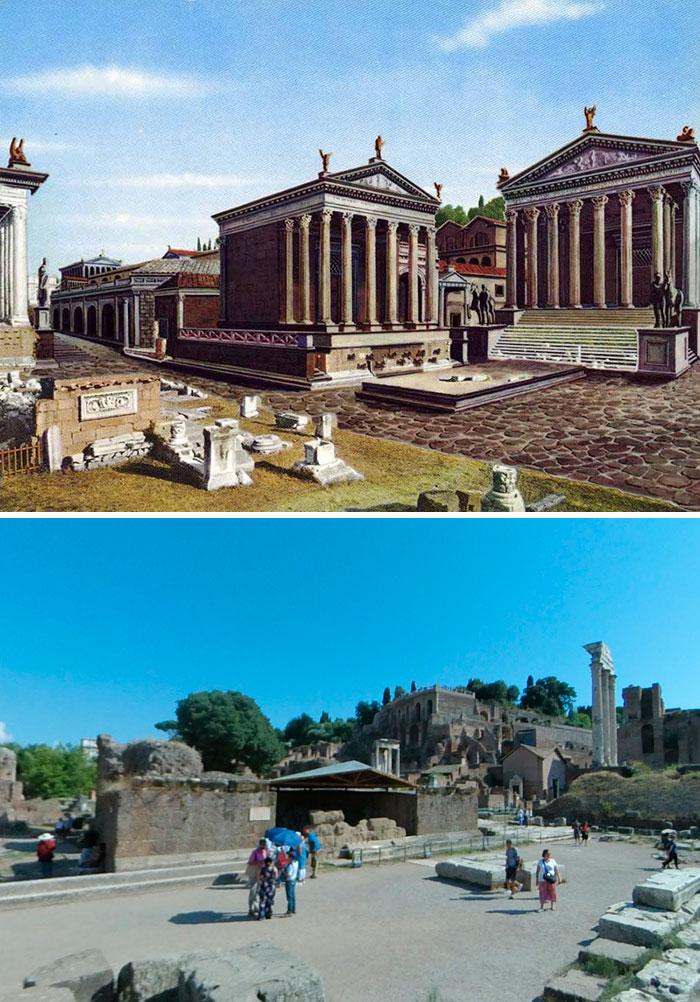 5c9c8347f0f2d before after roman buildings structures 11 5c9b492c33c61  700 - 11 estruturas antigas dos romanos há 2000 anos como seria na época