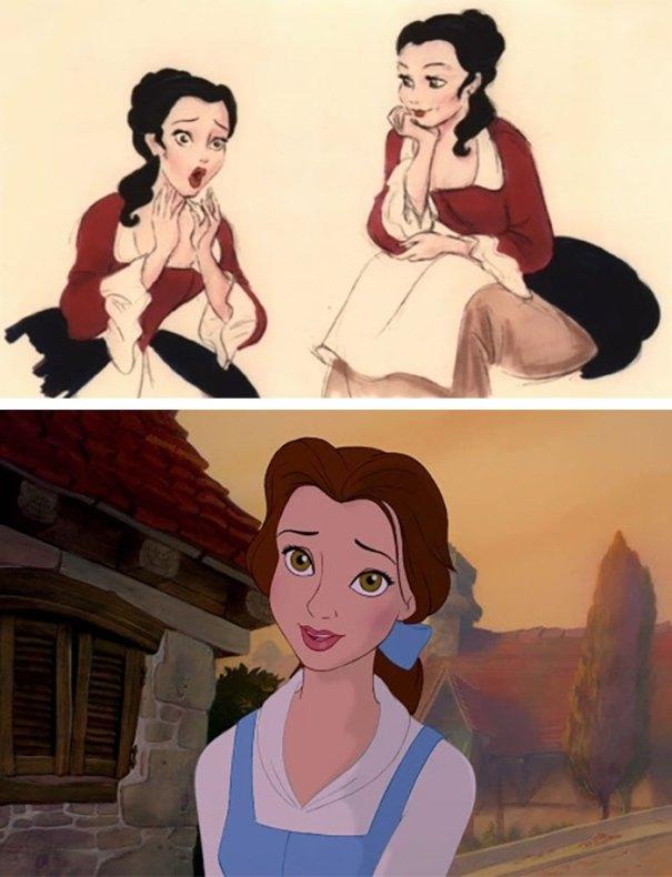 5c9c835da780d concept art sketches original compared disney characters 19 5c989cc7b7ad5  700 - Personagens da Disney em comparação com sua arte conceitual original