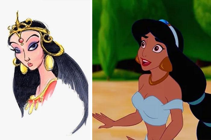 5c9c835e616c8 concept art sketches original compared disney characters 12 5c98934a2d19a  700 - Personagens da Disney em comparação com sua arte conceitual original