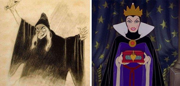 5c9c835eb718d concept art sketches original compared disney characters 12 5c98988f65e17  700 - Personagens da Disney em comparação com sua arte conceitual original