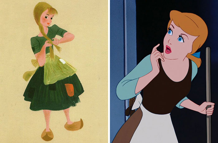 5c9c835f73d36 concept art sketches original compared disney characters 3 5c98933c74034  700 - Personagens da Disney em comparação com sua arte conceitual original