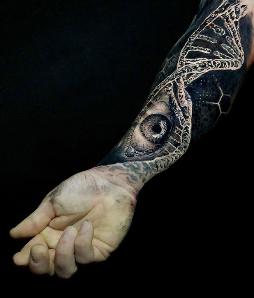 5caef3b9ab52e 3d tattoo ideas 4 5ca1d61275cb8  700 - 56  Tatuagens em 3D que irão bagunçar sua mente