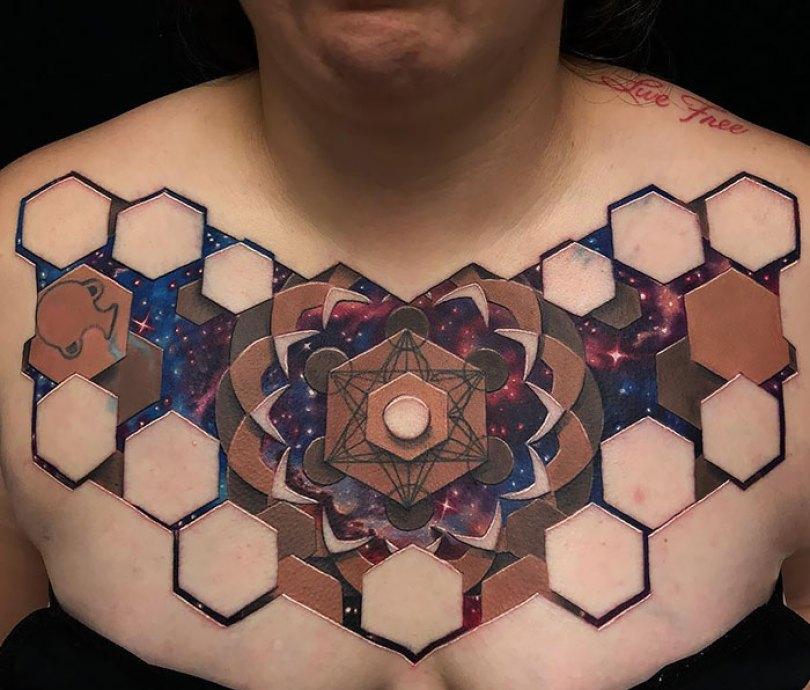 5caef3ba69d80 3d tattoo ideas 32 5ca1dbe0bd2aa  700 - 56  Tatuagens em 3D que irão bagunçar sua mente