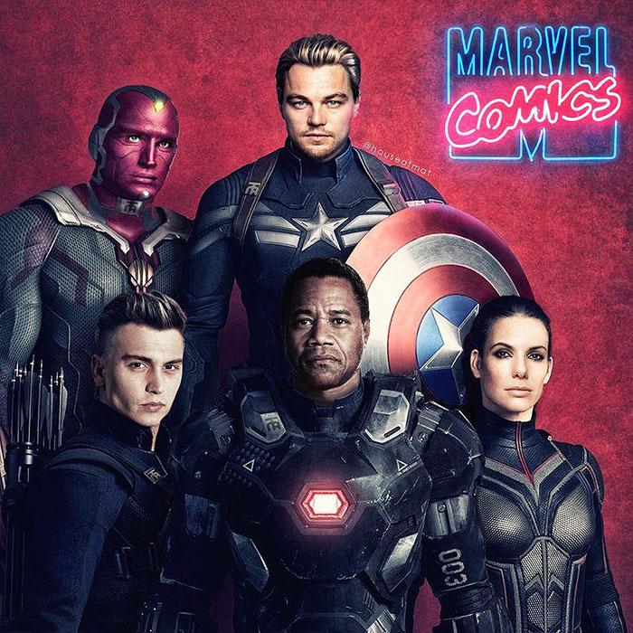 5cd28db2caa2c marvel avengers movie actors 90s houseofmat 4 5cd15084b719e  700 - Este artista tentou imaginar como seria o elenco dos Vingadores nos anos 90