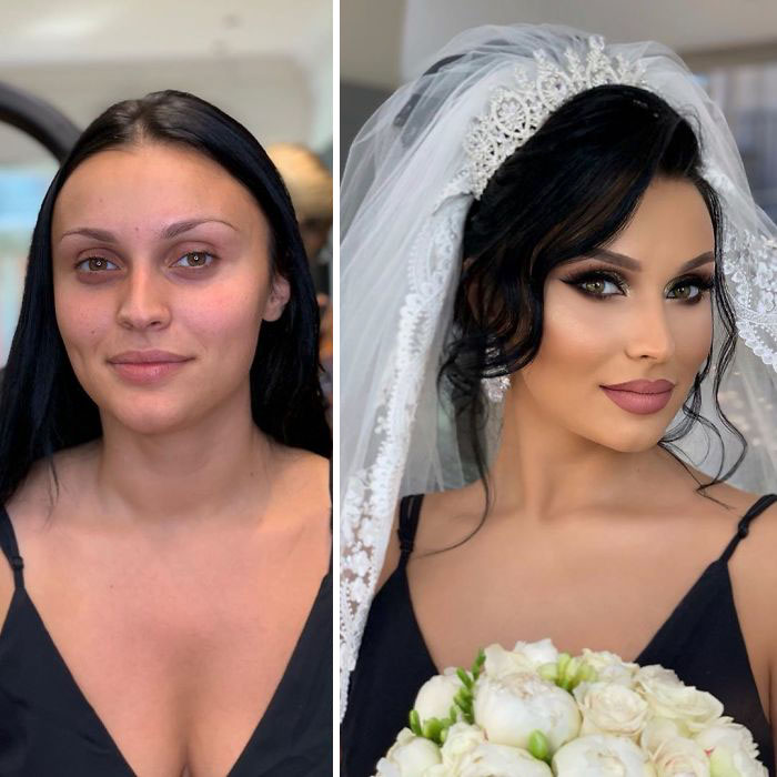 5d4d3da39136c bride 12 5d4bd021401b0  700 - 23 lindas noivas antes e depois de sua maquiagem de Casamento