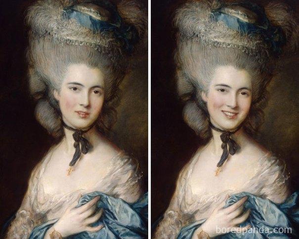 5d7602ee999ef famous paintings portraits faceapp 26 5d724620d93bb  700 - Com um sorriso é sempre melhor