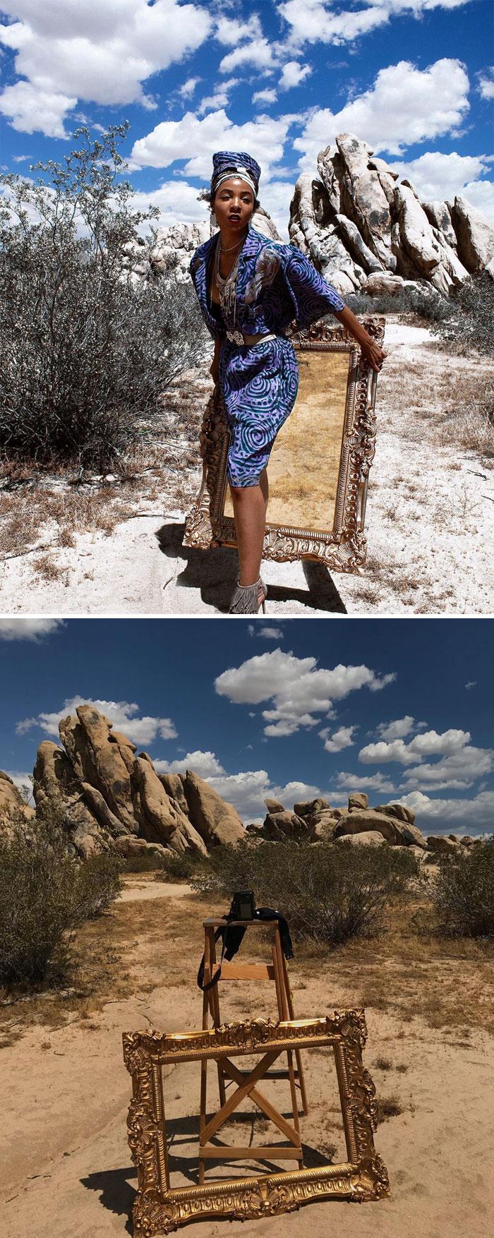 5d7f3c25bfd83 photo shoot behind the scenes kimberly douglas 26 5d7a2914172a9  700 - Modelo tira auto-retratos muito interessante