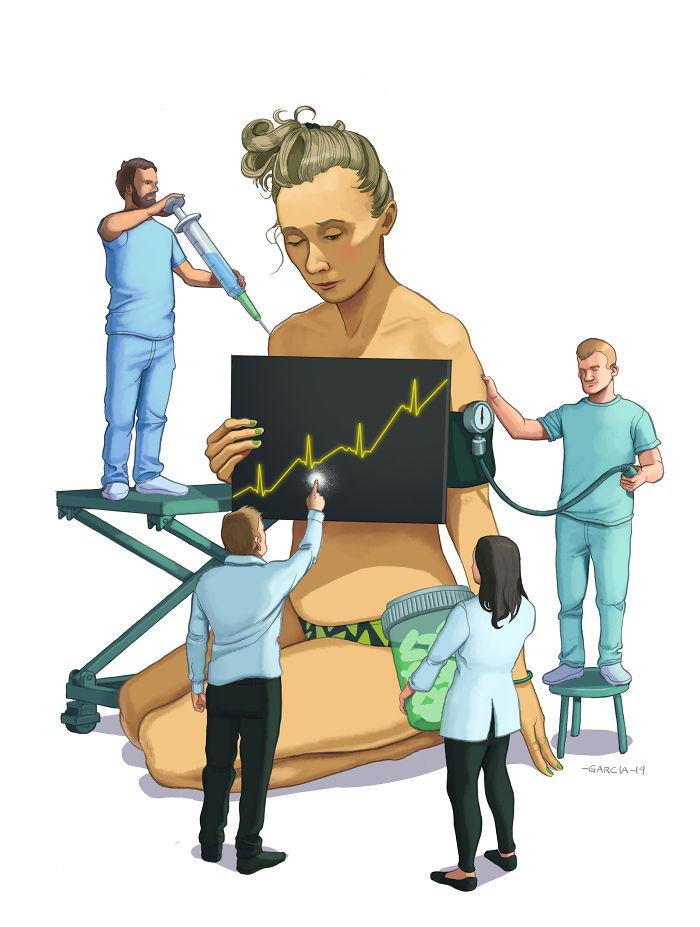 5d8dbd1bab30c 50 Brutally Shocking Illustrations that tell whats Wrong with our Society 5d8a122aaa9a6  700 - 35 ilustrações instigantes que mostram o que há de errado com nossa sociedade