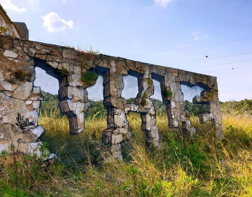 amazing transparent graffiti vile 15 - Português faz as paredes parecerem transparentes usando nada além de tinta Spray