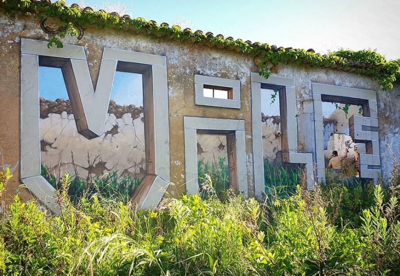 amazing transparent graffiti vile 20 - Português faz as paredes parecerem transparentes usando nada além de tinta Spray