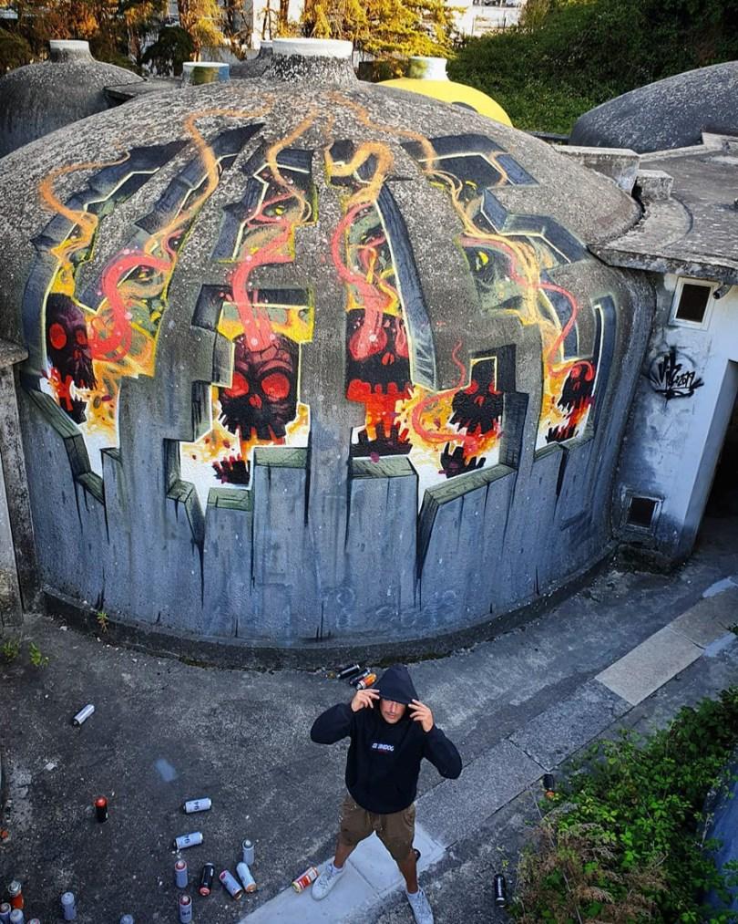 amazing transparent graffiti vile 29 - Português faz as paredes parecerem transparentes usando nada além de tinta Spray