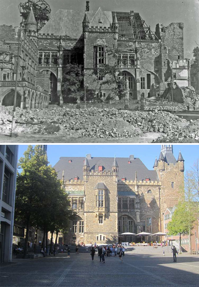 5dc5225bbea29 Europe during World War 2 and Today our top 22 Now And Then images 5dbffce465090  700 - 30 fotos fabulosas durante as Guerras e como são esses lugares hoje
