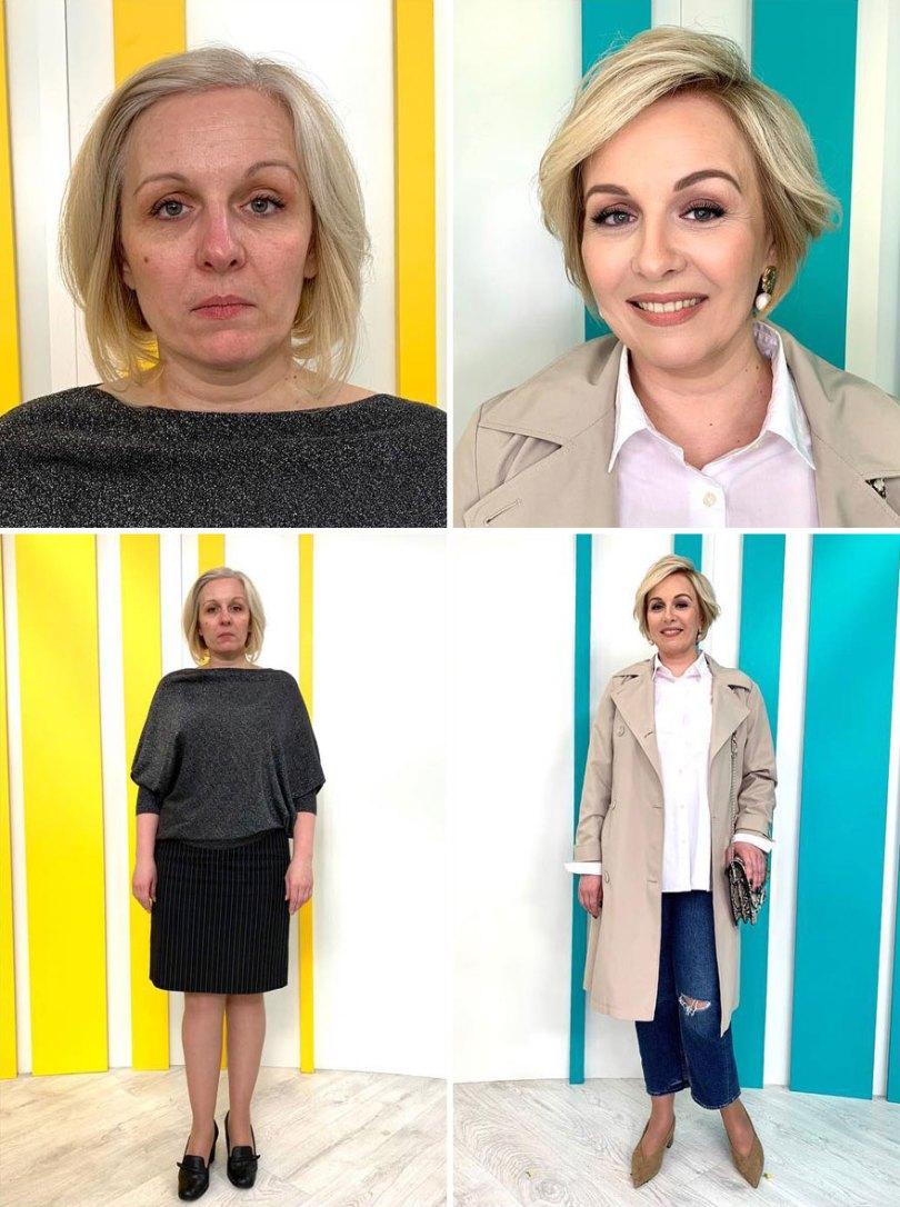 """5dc5226661a47 before after transformations stylist alexander rogov 3 5dc3e30370ec0  880 - Resultado impressionante de pessoas """"repaginadas"""" por estilista russo"""