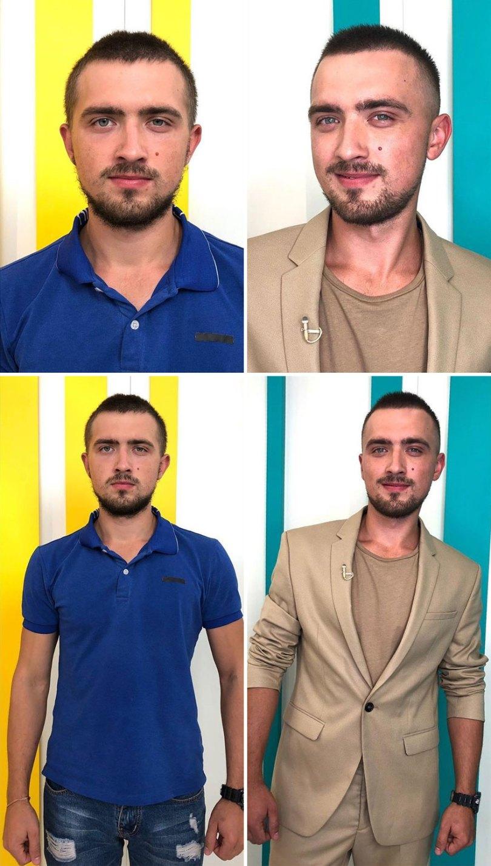 """5dc52269e9bee before after transformations stylist alexander rogov 8 5dc3e861871fe  880 - Resultado impressionante de pessoas """"repaginadas"""" por estilista russo"""