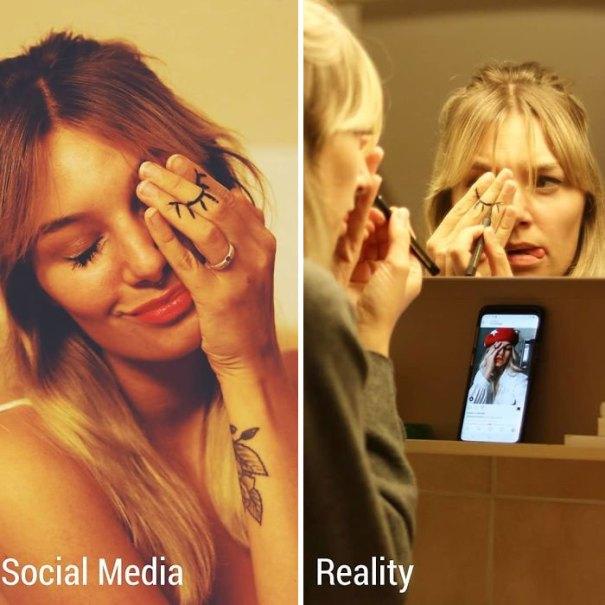 5e144317961a4 10 5e1322eeb99c6  700 - Blogueira compara fotos do Instagram com a realidade