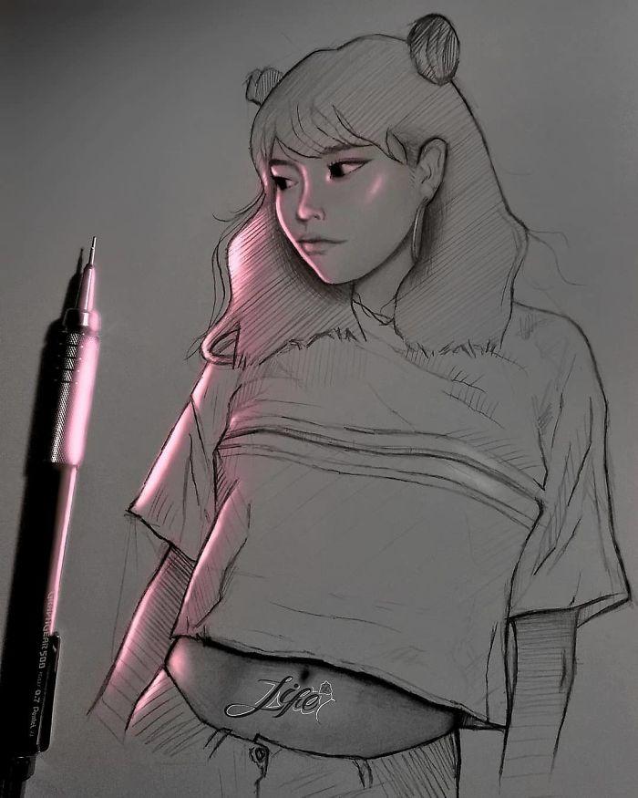 5e4b9f6ad0bf7 B5q6voyBhrA png  700 - Técnica única deste artista faz parecer que seus desenhos estão brilhando