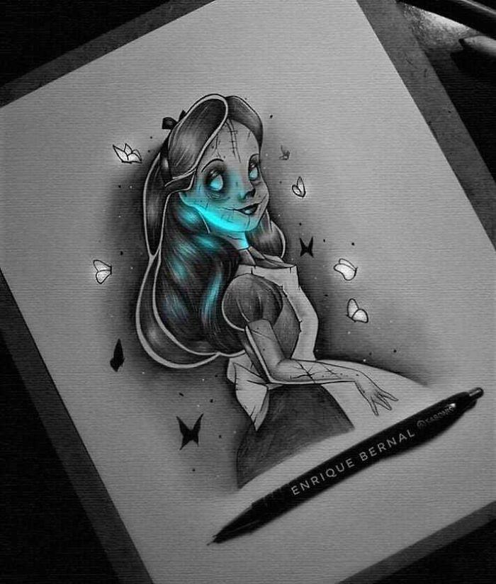 5e4b9f6be611c ByHTFrbJmFw png  700 - Técnica única deste artista faz parecer que seus desenhos estão brilhando
