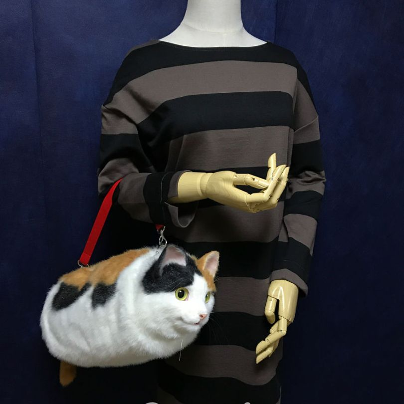 5e577ec3e43c5 Japanese artist continues to create bags in the shape of cats and realism impresses 5e54d0a20f7c8  880 - Artista japonês cria Bolsas de gatos que assustam de tanta veracidade