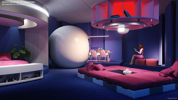 5e5e0b963f002 03a 6 rooms of the future Master bedroom 5e584c26efba2  700 - Como as Revistas do passado imaginavam que estaríamos vivendo no futuro?