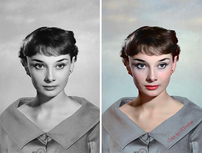 5e69f0bddb063 This Russian artist impresses by giving vivid colors to photos of celebrities from the past 5e679afac9336 png  700 - Projetos gráficos: A arte em colorir vídeos e fotos em preto e branco