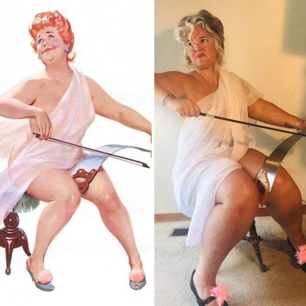 5e6b42c0e8355 pinup girl hilda recreation amy pence brown 6 5e69fa8fe0f7f  700 - Esta mulher recriou a aparência de uma garota esquecida de pin-up dos anos 50