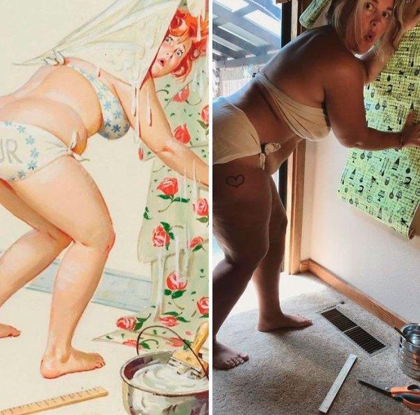 5e6b42c4b0d3f pinup girl hilda recreation amy pence brown 20 5e69fdec6a865  700 - Esta mulher recriou a aparência de uma garota esquecida de pin-up dos anos 50