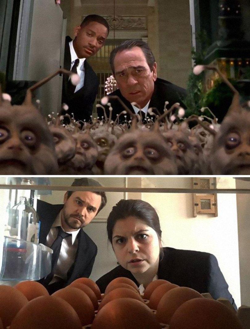 5e96b10132293 couple recreates famous movie scenes 30 5e957032dd9b7  700 - Casal em quarentena resolveu passar o tempo recriando cenas de filmes famosos