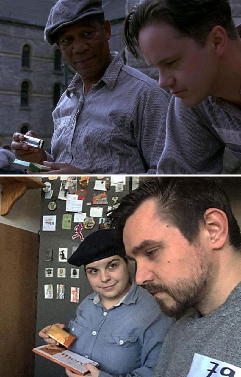 5e96b104851c7 couple recreates famous movie scenes 44 5e95893bd55a3  700 - Casal em quarentena resolveu passar o tempo recriando cenas de filmes famosos