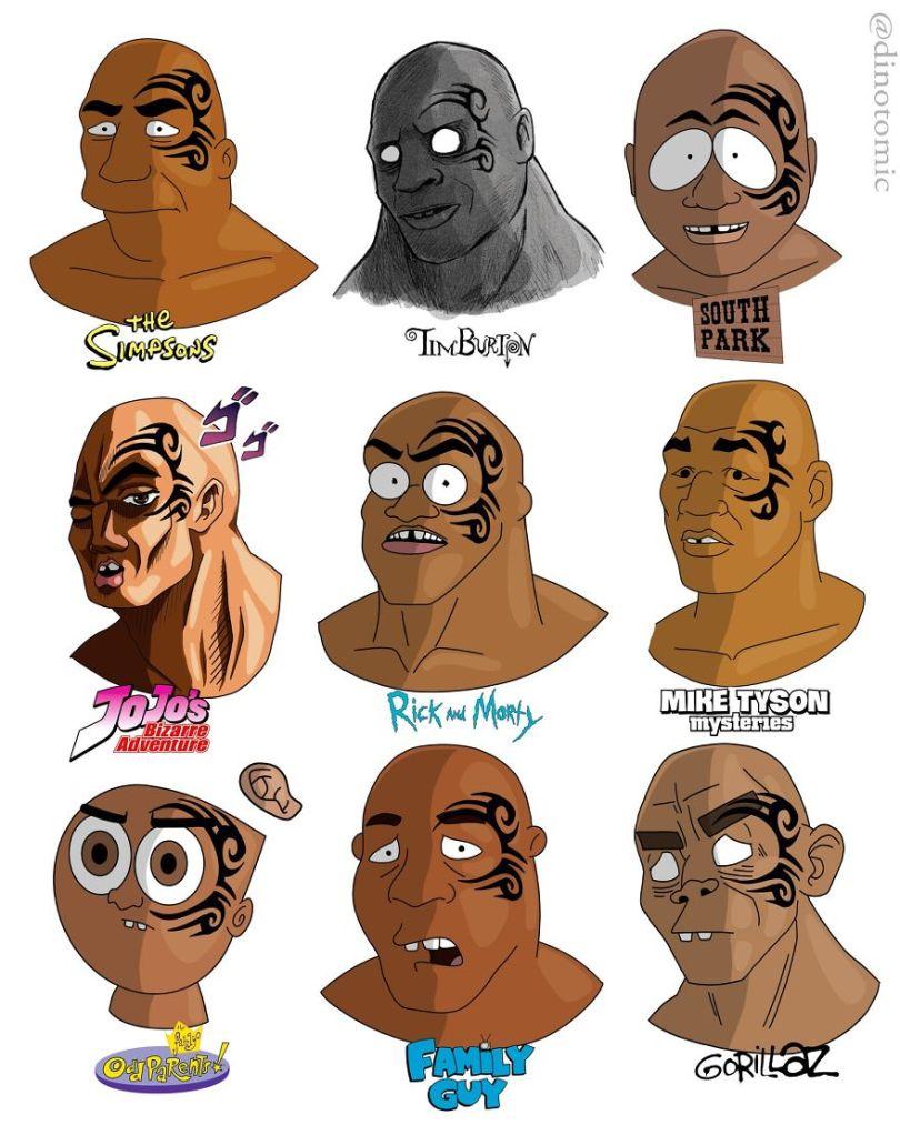 5ea1434578ba0 different cartoon styles drawings dinotomic 1 16 5e9e964ea20e6  880 - Artista desenhou celebridades como desenhos e o resultado é incrível