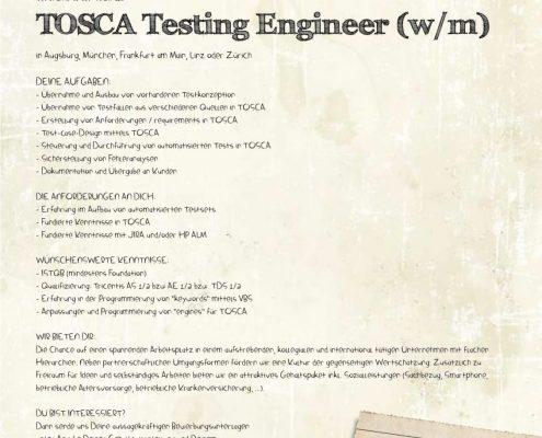 TOSCA TESTING ENGINEER