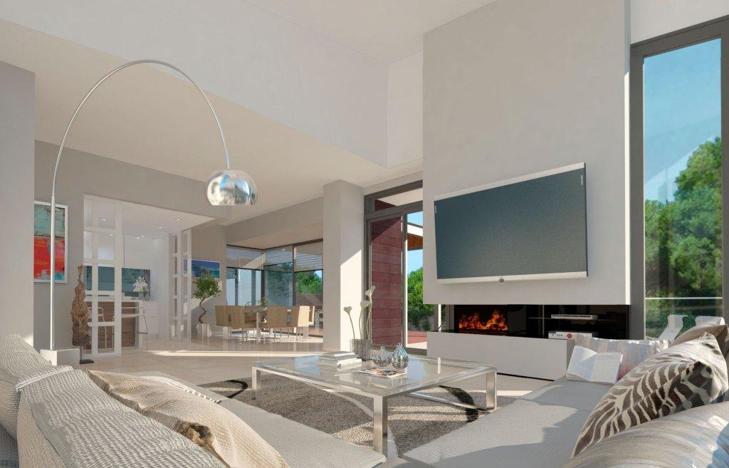 DEMO Arquitectura Infografía salón La Pinada