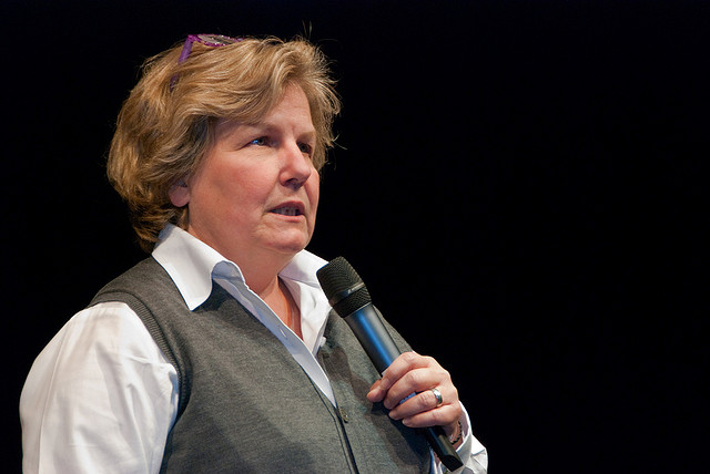 The TV host and WEP leading light Sandi Toksvig (Credit: CC BY 2.0)