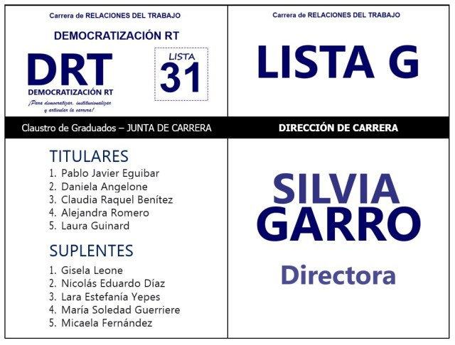 Nuestros/as Candidatos/as Graduados/as para la Junta de Carrera