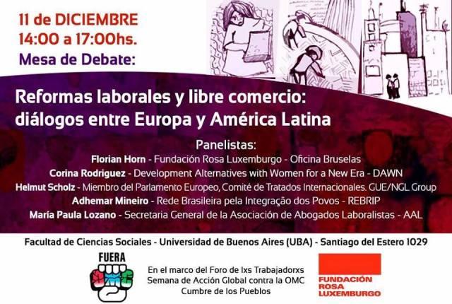 Reformas laborales y libre comercio: diálogos entre Europa y América Latina – #FueraOMC