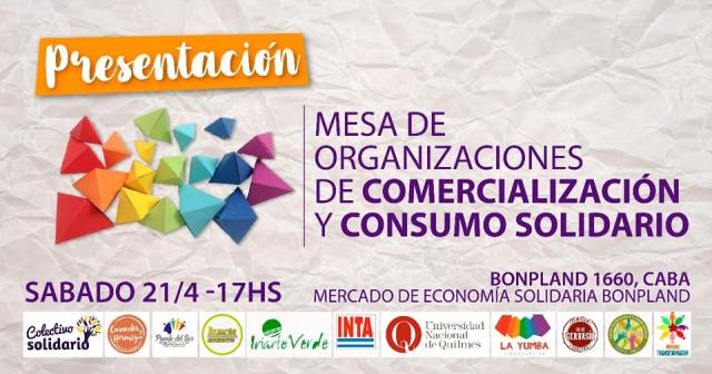 ¡No te lo pierdas! Mesa de Organizaciones de Comercialización y  Consumo Solidario. #EconomíaSocial