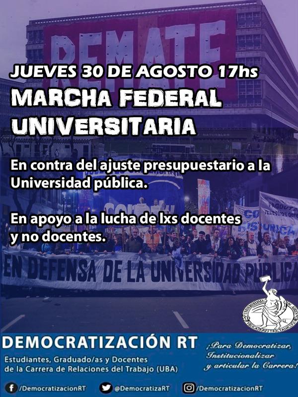 HOY | Marcha Federal Universitaria