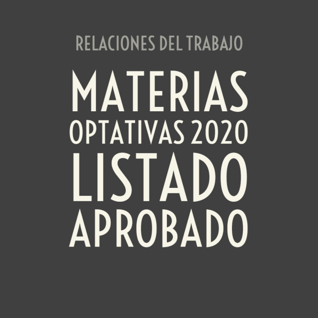 Materias optativas aprobadas 2020 – Listado