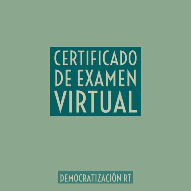 Certificado de examen virtual