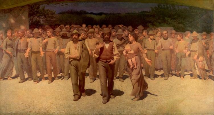 Giuseppe Pellizza da Volpedo. Il quarto stato. 1901.