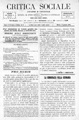 Critica Sociale. 1891