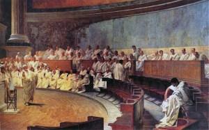 Cesare Maccari - Senato romano (vedi didascalia)