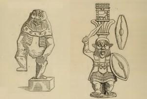 Figura 4. Rappresentazione del demone egizio Bes. Immagine tratta dal testo citato di Ollivier-Beauregard.