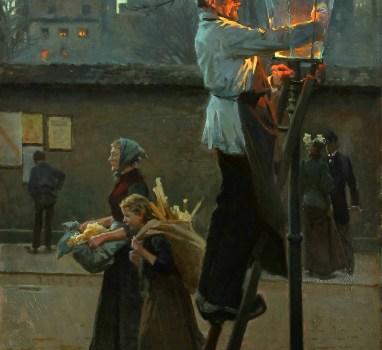 Il lampione che rischiara la sera: come la pittura così la poesia