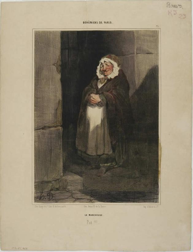 Figura 22. La passeggiatrice, La marcheuse. La Caricature, 26 Dicembre 1841. Le Charivari, 22 Maggio 1842.
