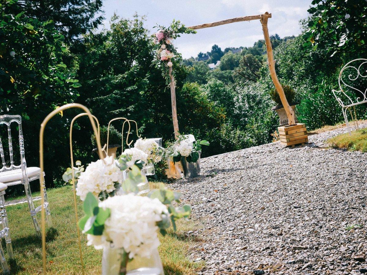 mariage chic champêtre boheme romantique ille-et-vilaine