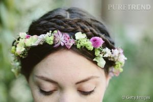 couronnes fleurs mariée boheme chic