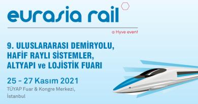 EURASIA RAIL FUARI 25 – 27 KASIM 2021'E ERTELENDİ