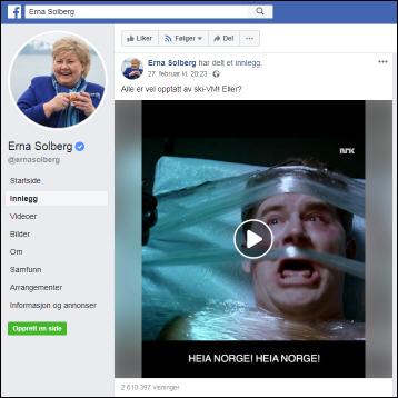 Erna Solberg som mafiaboss