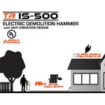 TR Industrial IS-500 42-Pound Demolition Jack Hammer with Anti-Vibration Design