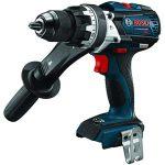 Bosch HDH183B 18V EC Brushless 1/2 In. Hammer Drill/Driver (Bare Tool), Blue (Renewed)
